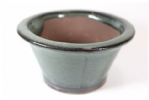 Bonsai Pot, Round, 11cm, Green, Glazed